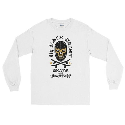 Lucha Mask WHT Longsleeve