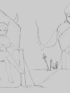 Imp Queen Concept Sketches