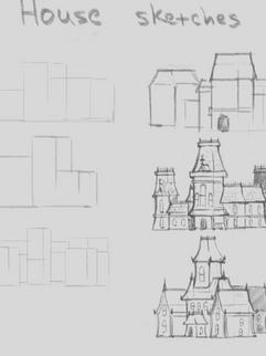 Blackfall Mansion concept sketches.