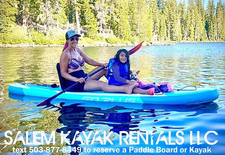 Paddle Board Rentals at Salem Kayak Rent