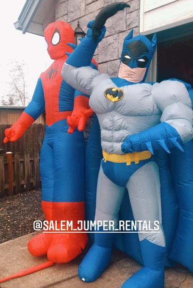 Spiderman and Batman rentals