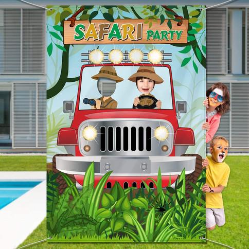Tiki Jungle Safary party deocrations by Salem Jumper Rentals LLC
