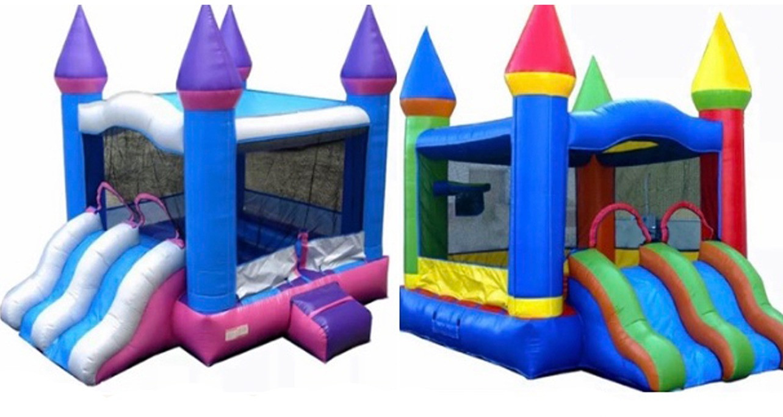 Mini Double Slide Bounce House Rentals