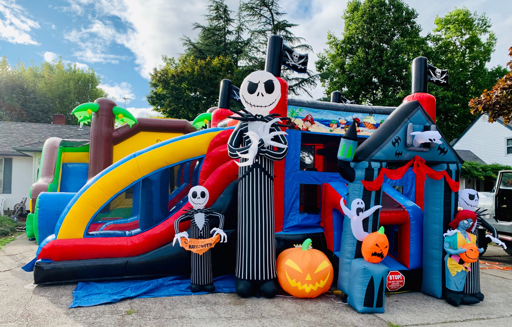 Nightmare b4 xmas with XL Pirate double slide bounce house rental
