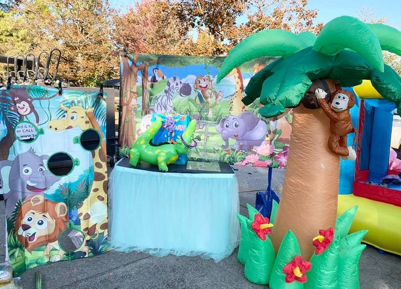 Jungle, Safari and Tiki themed decorations