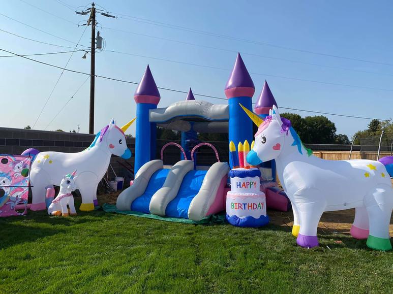 Unicorns with Mini White Double Slide Combo