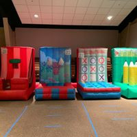 4 in 1 inflatable circus games by Salem Jumper Rentals