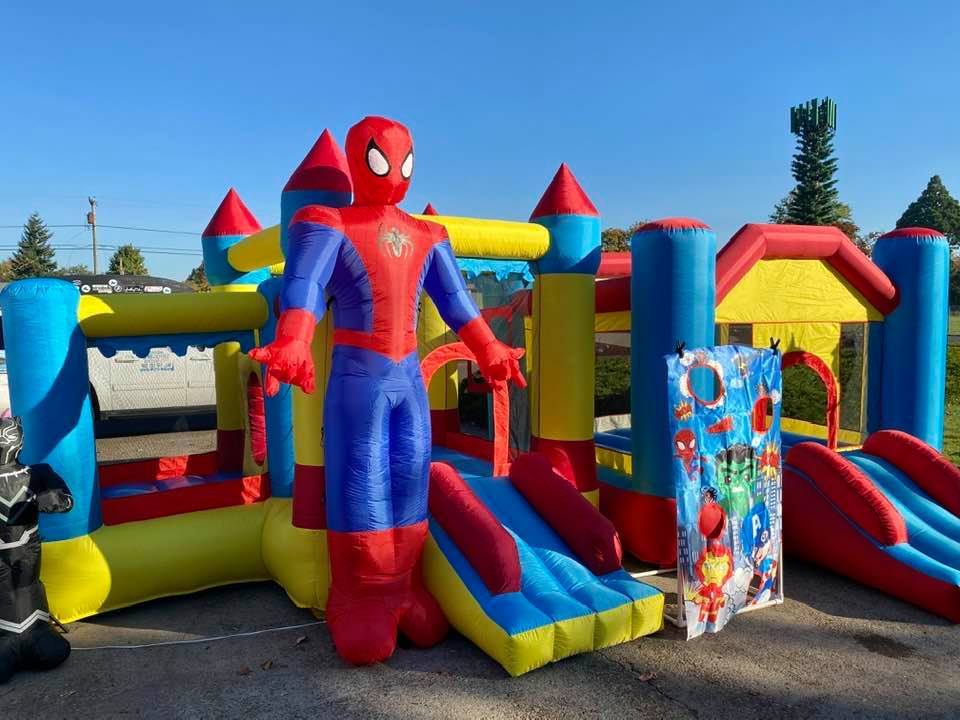 Spiderman with Yellow Toddler Jumper