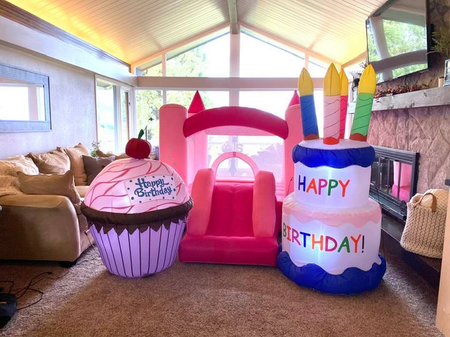Inflatable Birthday & Cup Cake