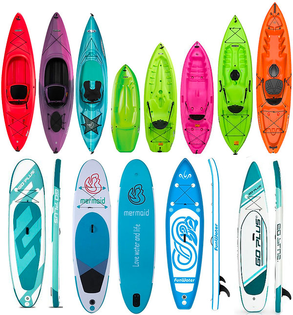 KAYAK AND PADDLE BOARD INVENTORY AT SALE