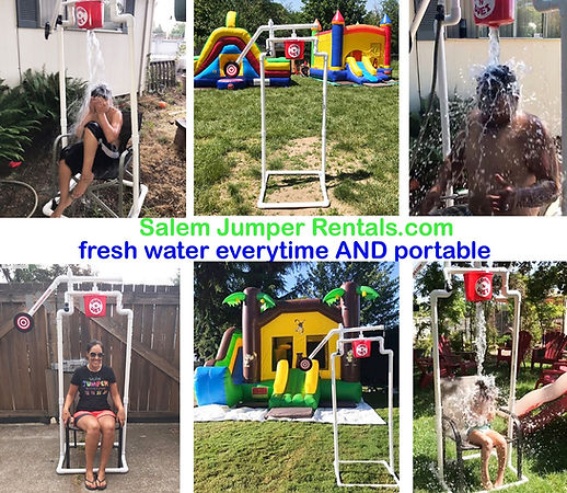 Portable Soak and Wet Dunk from Salem Jumper Rentals. Fresh Water everytime, easy and safer. We offer Bounce House Rentals and more. #SalemJumperRentals