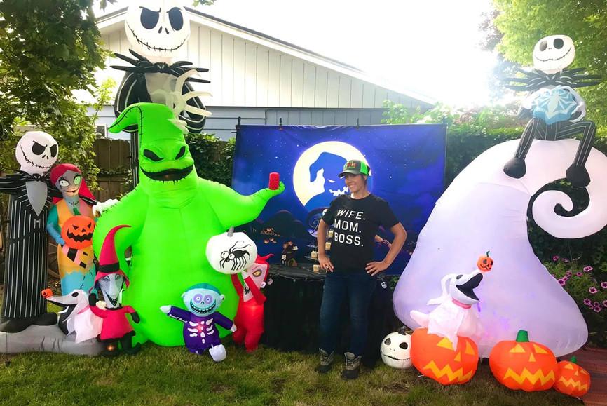 Nightmare B4 Xmas party rental decorations.