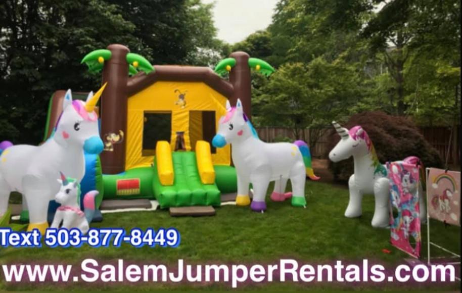 Unicorns with Jungle Single SlideJumper