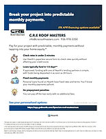 CRE Roof Masters roof financing
