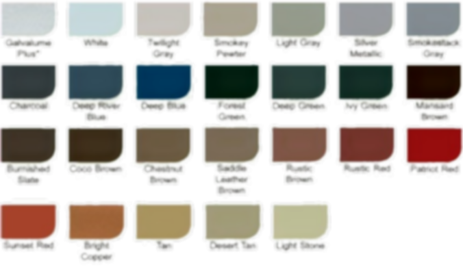 CRE Roof Masters Metal Color Chart of Conroe TX