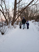 walking everyday .This pic with the kids