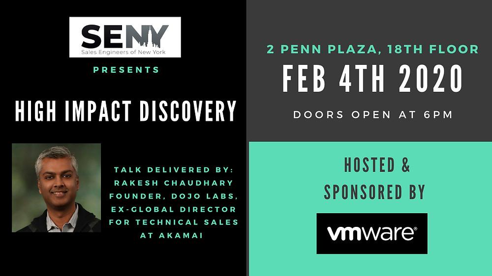 SENY event details: 2 Penn Plaza, Feb 4th, doors open at 6pm