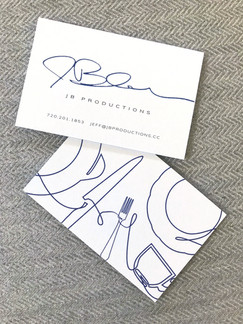 Business card design and brand identity creation.