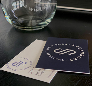 Food & Wine Festival Business Cards