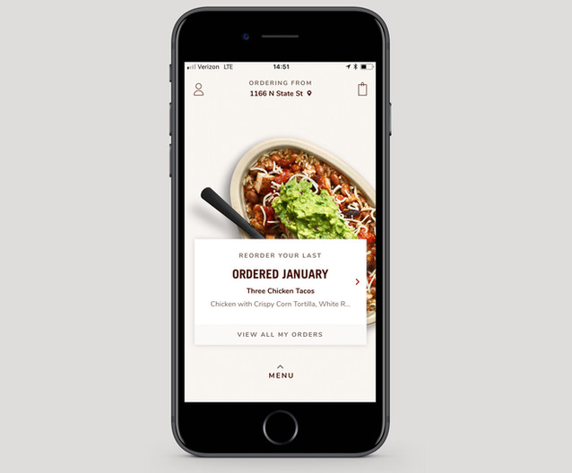 Mobile ordering app product management: design to launch + roadmap management.