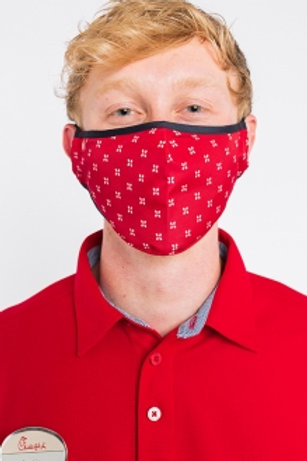 Odessa Adjustable Face Covering - Red Crown