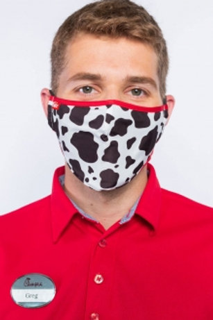 Odessa Adjustable Face Covering - Cow Print