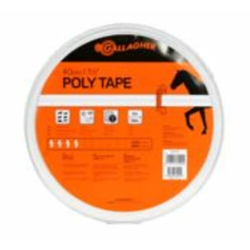 Gallagher 40mm High Strength Poly Tape 100m