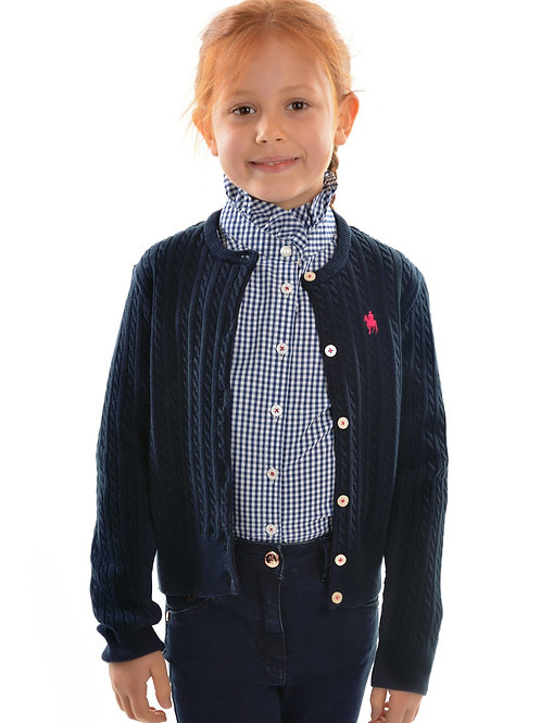 Thomas Cook Girls Fine Cable Cardigan
