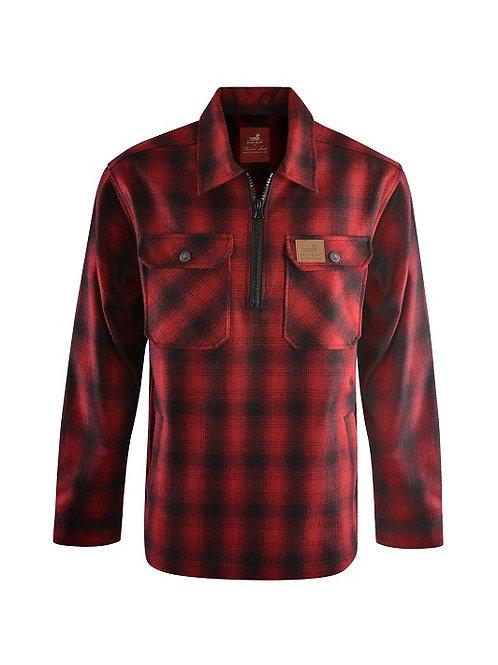 Thomas Cook - Dux-Bak Mallard 1/4 Zip Overshirt - Red