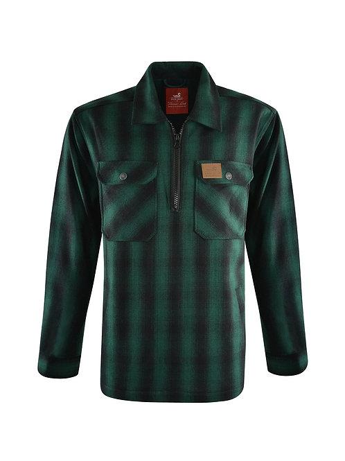 Thomas Cook - Dux-Bak Mallard 1/4 Zip Overshirt -Green