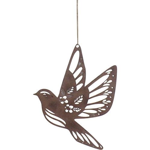 Lavida Rust Bird Hanger