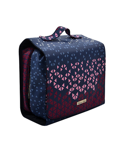 Thomas Cook Fold Out Cosmetic Bag - Pink Multi