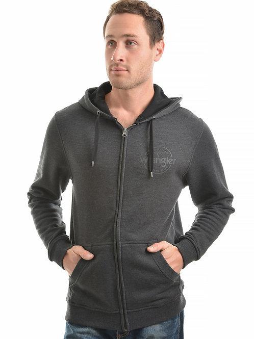 Wrangler Mens Cooper Zip Up Hoodie - Charcoal Marle