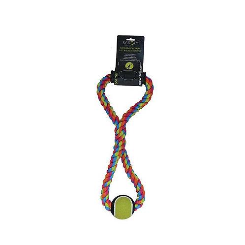 Scream Tug Rope With Tennis Ball 50cm