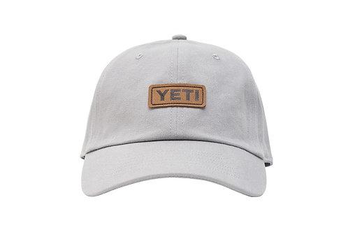 Yeti Badge Logo Leather Soft Crown Hat