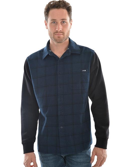 Pure Western Mens Barnett L/S Hoodie Shirt