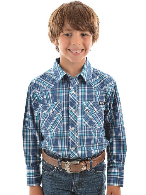 Pure Western Boys Brady Check L/S Shirt