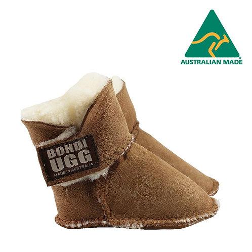 Bondi Ugg Kids Velcrose Sheepskin Baby Booties