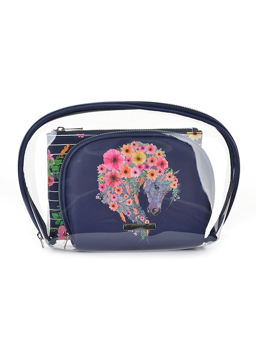 Thomas Cook Cosmetic Bag (3 in 1) - Floral Horse Head