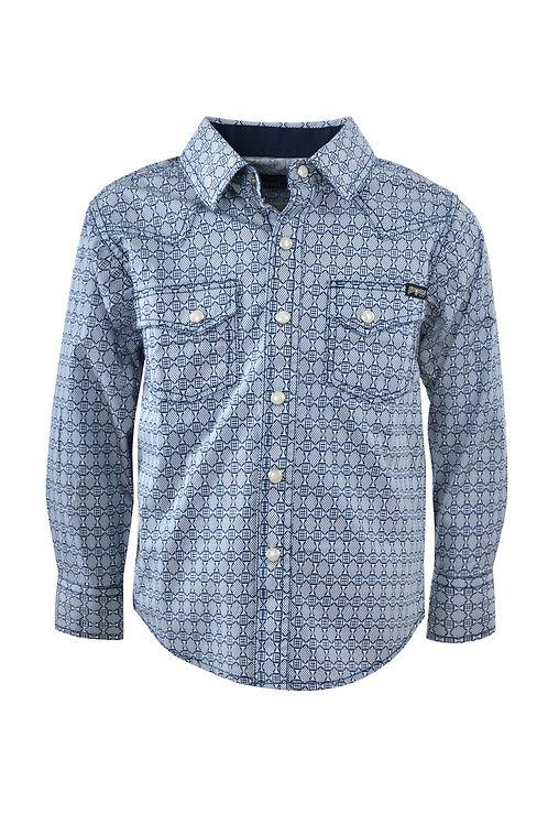 Pure Western Braxton Print L/S Shirt