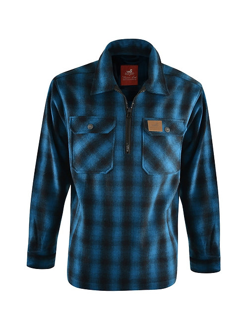 Thomas Cook - Dux-Bak Mallard 1/4 Zip Overshirt -Blue