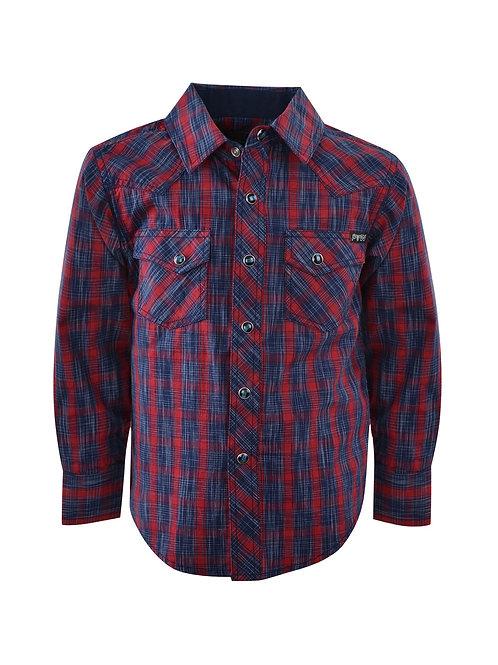 Pure Western Boys Dalwood Check L/S Shirt