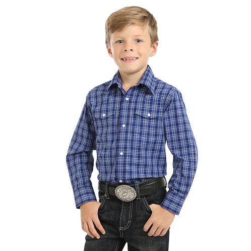 Wrangler Boys Wrinkle Resist Check Shirt