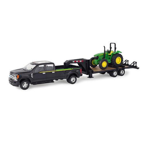 John Deere 5075E Tractor, Trailer & Ford