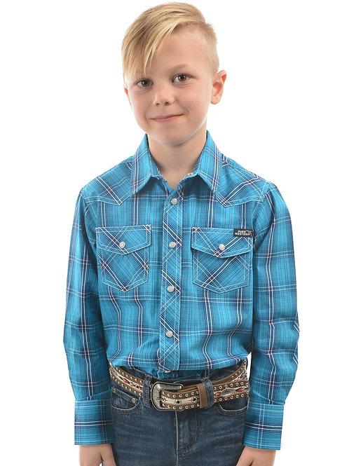 Pure Western Boys Felix Check L/S Shirt
