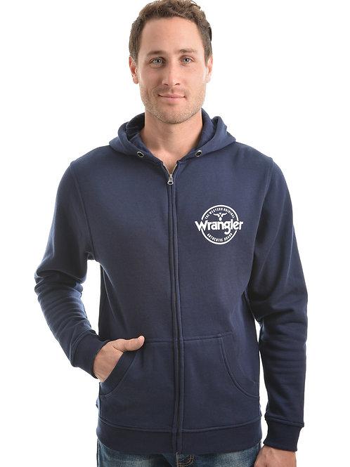 Wrangler Mens Cooper Zip Up Hoodie - Navy