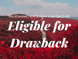 How Duty Drawback Experts Define If Clients Are Eligible for Drawback