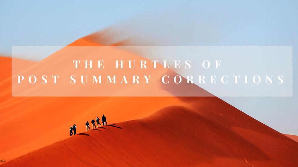 Post Summary Corrections