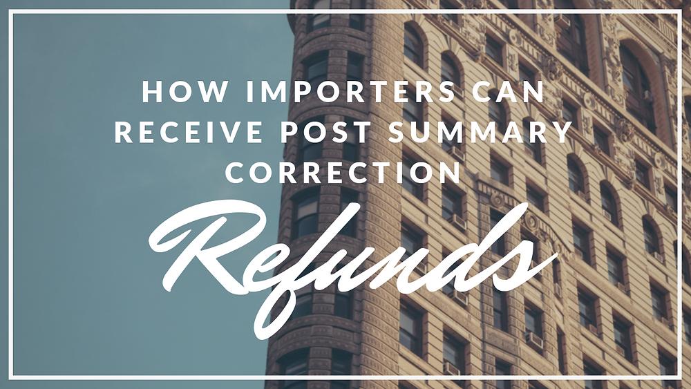 Post Summary Correction Refunds