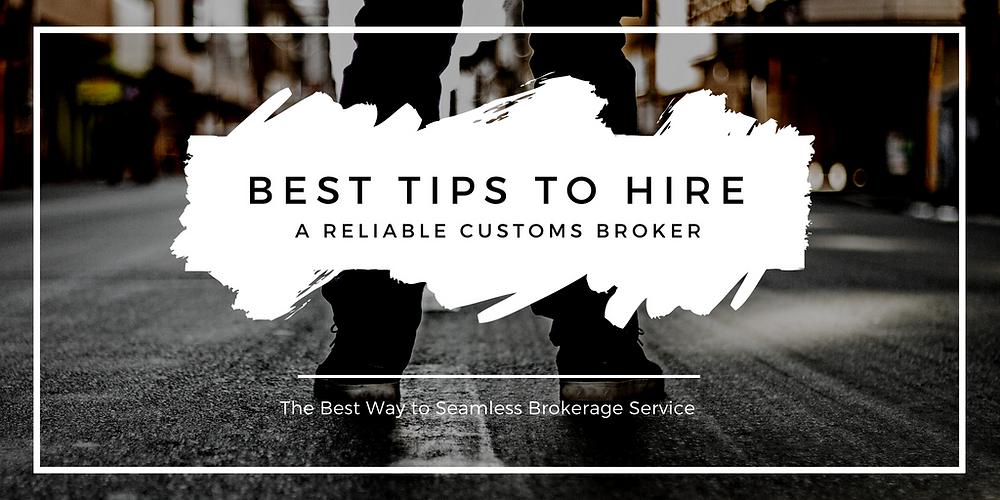 Reliable Custom Broker